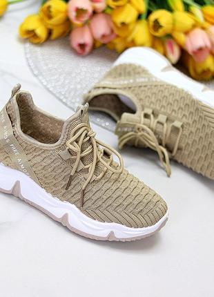 Модные легкие дышащие тканевые текстильные женские кроссовки в разные цвета5 фото