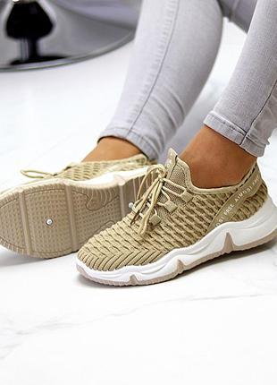 Модные легкие дышащие тканевые текстильные женские кроссовки в разные цвета3 фото