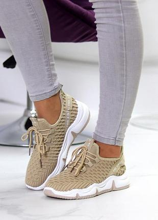 Модные легкие дышащие тканевые текстильные женские кроссовки в разные цвета9 фото