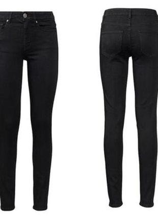 Чёрные джинсы скини высокая посадка2 фото