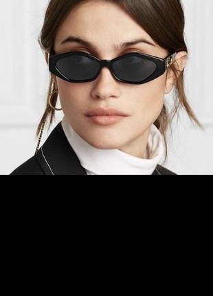 Винтажные очки чёрные очки 90-х