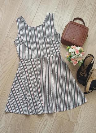 Классное  белое платье в принт, сарафан, р.l