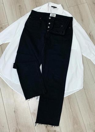 Джинсы чёрные джинсы zara высокая посадка