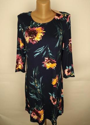 Платье новое трикотажное привлекательное цветочное uk 10/38/s