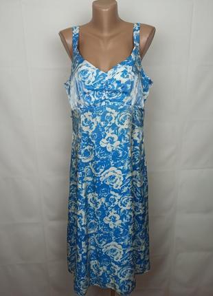 Платье легкое шикарное цветочное bhs uk 16/44/xl