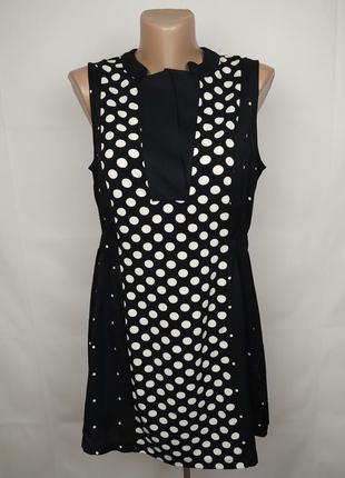 Платье мини красивое в горохи next uk 12/40/m