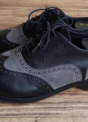 Туфли-броги оксфорды scarpe di maremma. размер 46. кожа. италия.