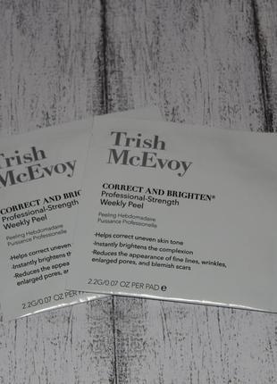 Салфетка пилинг для лица, шеи и декольте trish mcevoy weekly peel