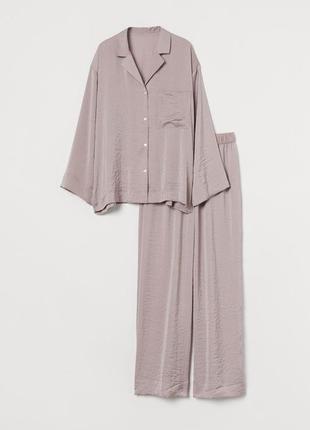 Пижама пудровая сатиновая h&m