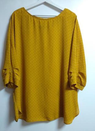 Трендовая блуза в горох 20/54-56 размера