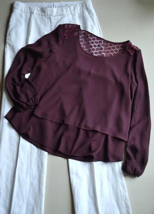 Двойная блузка с кружевом на спинке р.m-xl atmosphere