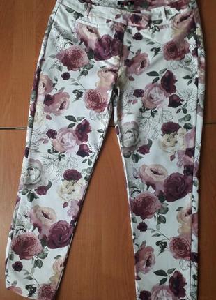 Шикарные хлопковые женские брюки 16 размера.