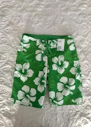 Стильные пляжные шорты 10-12 лет h&m швеция 🇸🇪