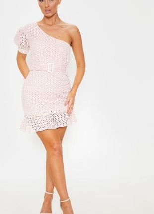 Шикарное лавандовое платье с прошвы