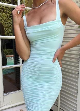 Платье миди ментолового цвета oh polly