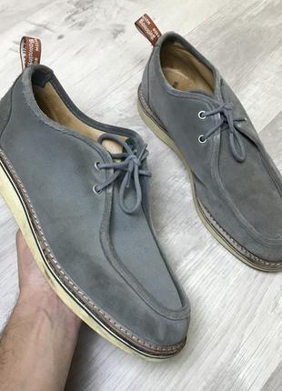 Туфли dr. martens & stussy wallabee shoes ботинки