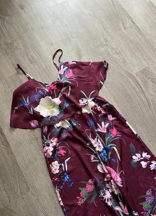 Стильный комбинезон в цветочный принт от дорогого бренда lipsy2 фото