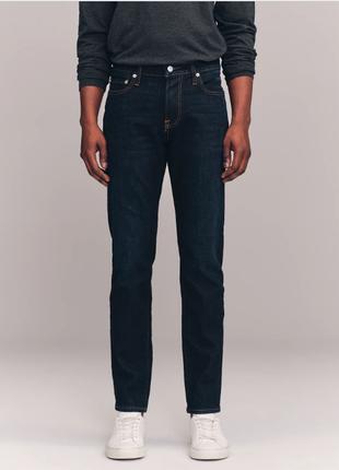 Темно-синие мужские джинсы скинни abercrombie&fitch