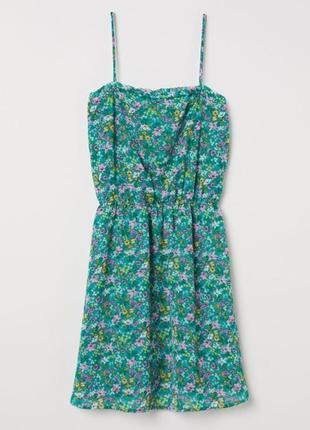 Шифоновое цветочное платье сарафан h&m