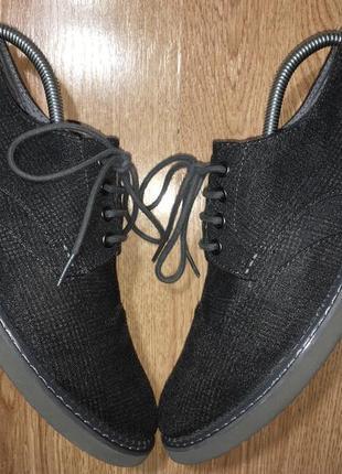 Лёгкие текстильные броги туфли toms ecco