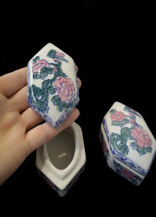 Мини шкатулка керамика фарфор винтаж