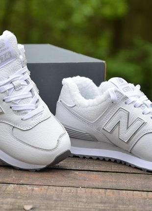 Оригинал new balance ботинки зимние кроссовки кожаные 574 мод wl574rmt нью беланс