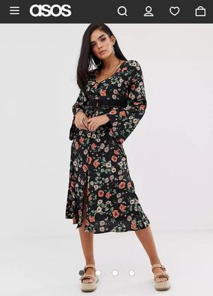 Asos платье в цветочный принт
