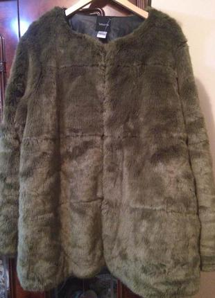 Стильная шуба куртка без воротника taillissime от la redoute,франция