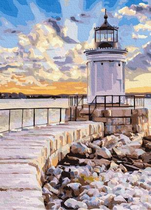 Картина по номерам маяк в лучах солнца