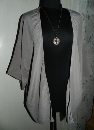 Шёлковый,натуральный 100% шёлк, кардиган-накидка,большого размера,riccovero
