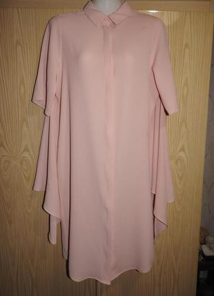 Monki платье оригинальное пудровый розовый цвет xs сукня рожевий пудровий колір