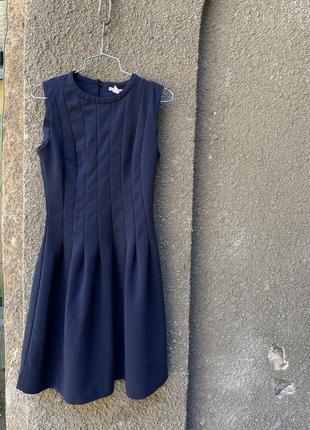 Симпатичное тёмно-синее платье h&m