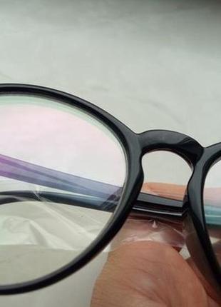 4-62 вінтажні окуляри для іміджу з прозорою лінзою очки для имиджа с прозрачной линзой4 фото
