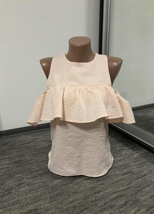 Летняя блуза с воланом  atmosphere