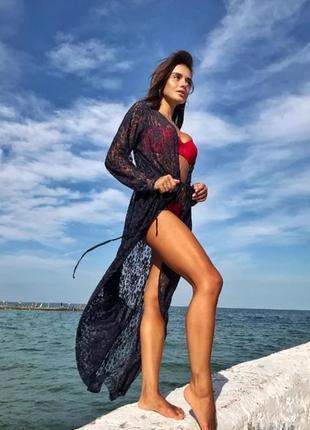 Пляжная туника в цветах 💣 410