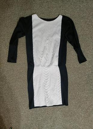 Теплое вязаное платье туника сукня обмен