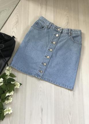 Джинсовая юбка размер м