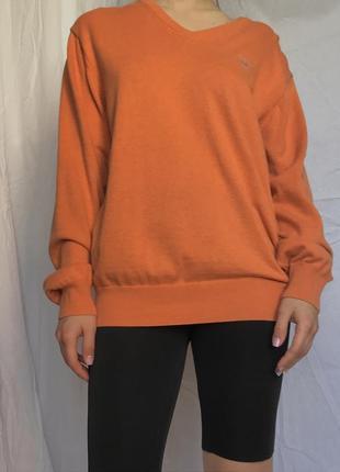 Ярко оранжевая кофта / свитшот / реглан оверсайз