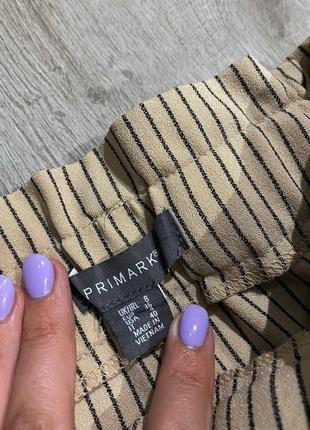 Стильные брюки в полоску на талии от primark3 фото