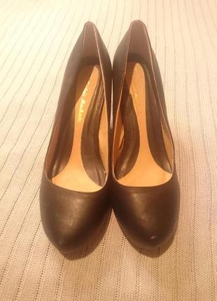 🔥летняя акция 1+1=3🎁 туфли черные на высоком каблуке  andres machado