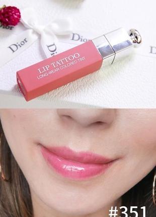 Dior addict lip tattoo стойкий тинт для губ # 351 natural nude