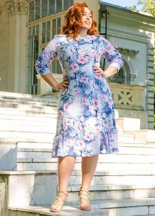 Платье женское, летнее, большие размеры:54,56,58,60;батал;91332lort