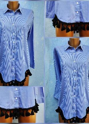 Рубашка с кистями zara