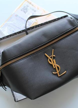 Женская сумка бананка черная