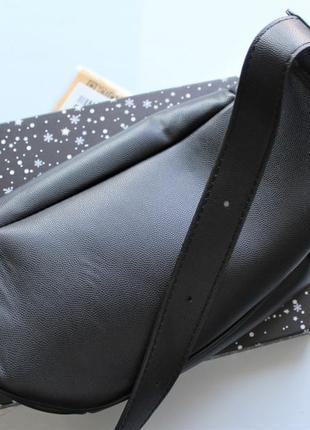 Женская сумка бананка черная4 фото