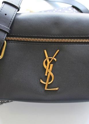 Женская сумка бананка черная2 фото