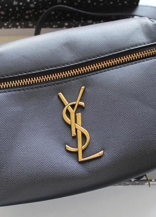Женская сумка бананка черная3 фото