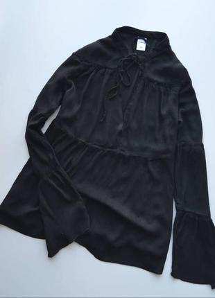 Блуза с расклешенными рукавами zebra