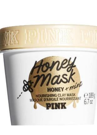 Питательная маска- скраб с натуральным медом, два в одном, виктория сикрет