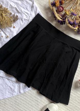 Короткая юбка солнце чёрного цвета